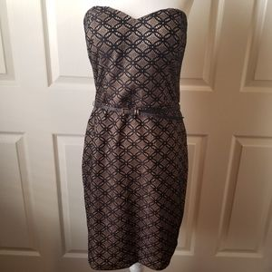 Maurices Strapless Shimmery Holiday Cocktail Dress